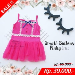 Small Buttons Pinky Dress