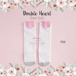 Double Heart Knee Socks