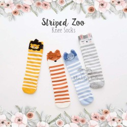 Striped Zoo Knee Socks