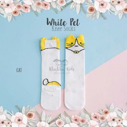 White Pet Knee Socks