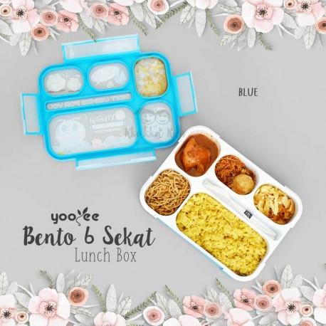 yooyee bento 6 sekat lunch box kkakka kids. Black Bedroom Furniture Sets. Home Design Ideas