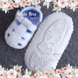 White Blue Pre-Walker Shoes