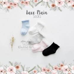 Lace Plain Socks