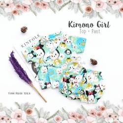 Kimono Girl Top + Pant - Tsum Polka Tosca