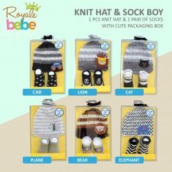 Royale Bebe - Knit hat & sock Boy