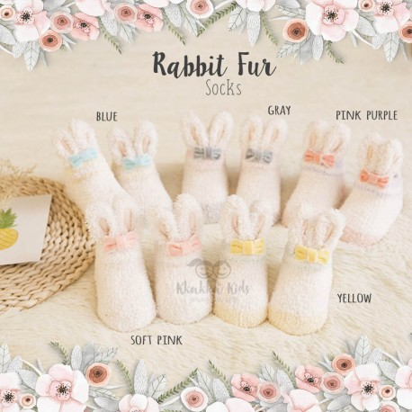 Rabbit Fur Sock