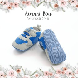 Armani Blue Pre-walker Shoes