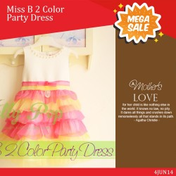 Miss B 2 Color Party Dress