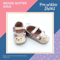 Mouse Glitter Pre-Walker Shoes