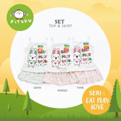 Piteku - Eat Play Love Set (Top+Skirt)