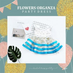 Flowers Organza Party Dress