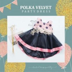 Polka Velvet Party Dress