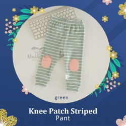Knee Patch Striped Pant
