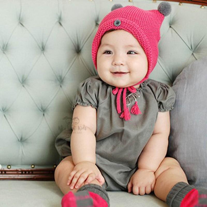 BABY HAT TOPI BAYI ANAK KOREA BEANIE KUPLUK BONNET RAJUT KNIT HAT . d04f0fb76c