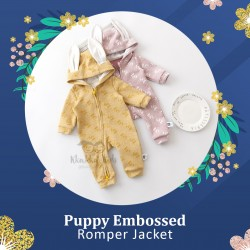 Puppy Embossed Romper Jacket