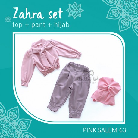 New Zahra Set (Top + Pant + Hijab)