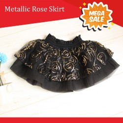Metalic Rose Skirt