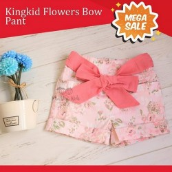 Mega Sale - Kingkid Flowers Bow Pant
