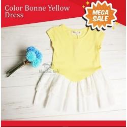 Mega Sale - Color Bonne Yellow Dress