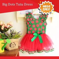 Orange Big Dots Tutu Dress