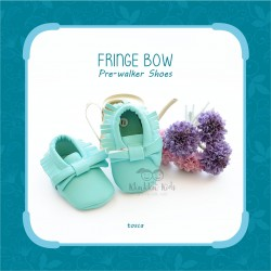 Fringe Bow Pre-Walker Shoes