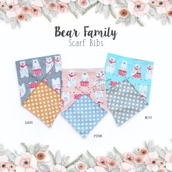 Bear Family Scarf Bibs