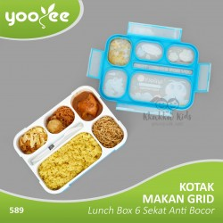 Yooyee - Kotak Makan Grid Bento Lunch Box.
