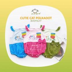 Piteku - Cutie Cat Polkadot Bodysuit