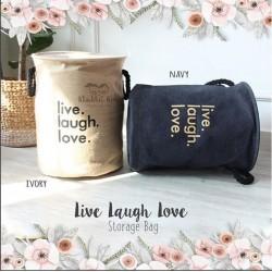 Live Laugh Love Storage Bag