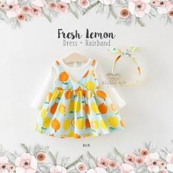 Fresh Lemon Dress + Hairband