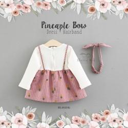 Pineaple Bow Dress + Hairband