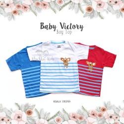 Baby Victory Boy Top - Koala Striped