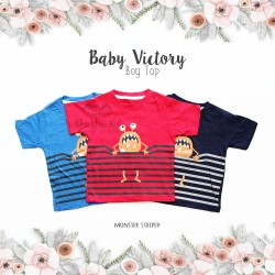 Baby Victory Boy Top - Monster Striped