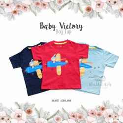 Baby Victory Boy Top - Rabbit Airplane