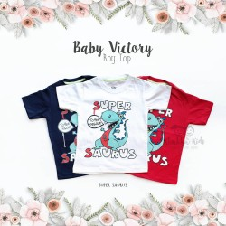 Baby Victory Boy Top - Super Saurus