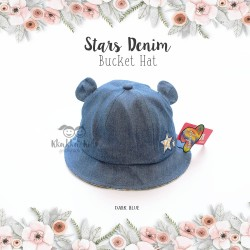 Stars Denim Bucket Hat