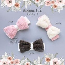 Ribbon Fur Hairband
