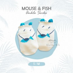 Mouse & Fish Ankle Sock