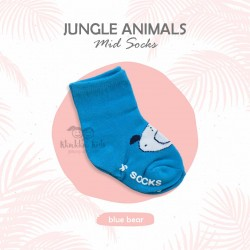 Jungle Animal Mid Sock