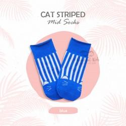 Cat Striped Mid Socks