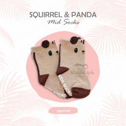 Squirrel & Panda Mid Sock