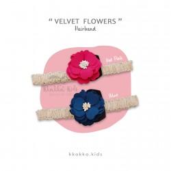 Velvet Flower Hairband