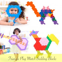 TRIANGLE PLUG MATCH BUILDING BLOCKS (132pcs)