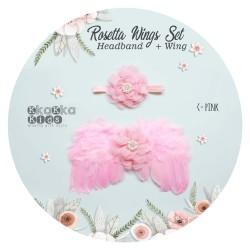 Rosette Wings Set Headband + Wing
