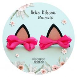 Neko Ribbon Hairclip