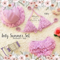 Lolly Summer Set (Swimsuit + Hat)