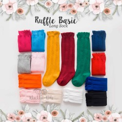 Ruffle Basic Knee Sock