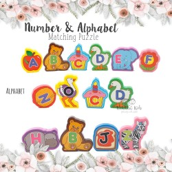 Number & Alphabet Matching Puzzle