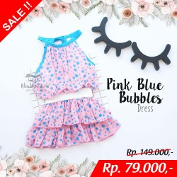 Pink Blue Bubble Dress